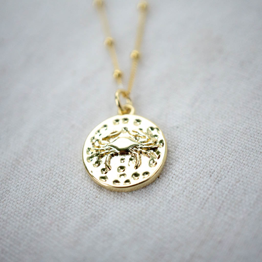 Zodiac + Constellation Duo - Reversible Gold Filled Necklace