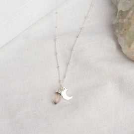 Rose Quartz 'Lover of the Moon' Sterling Silver