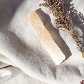 Peach Selenite Stick