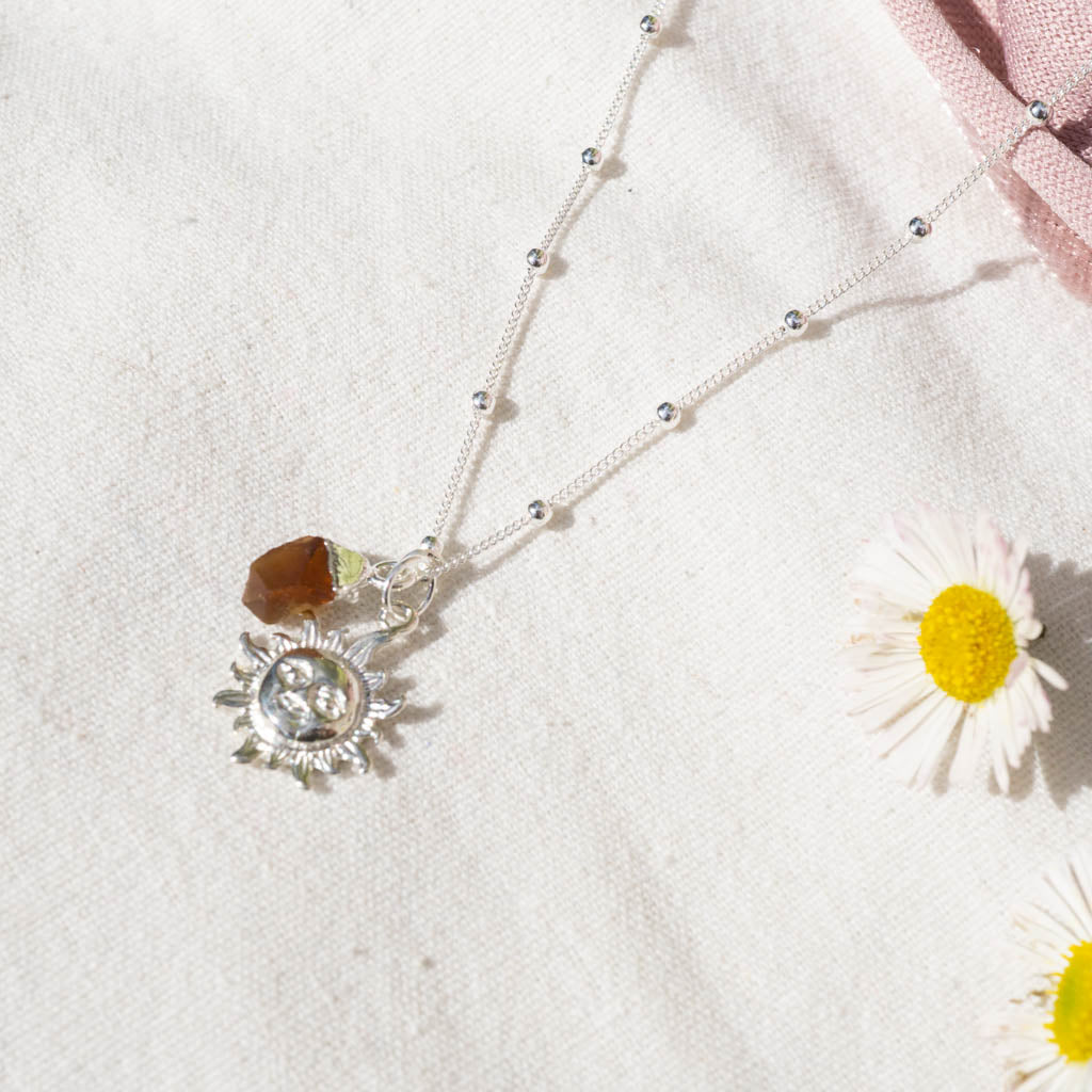 sun and citrine necklace