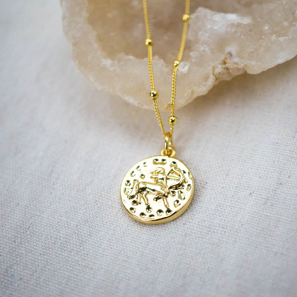 Sagittarius reversible necklace