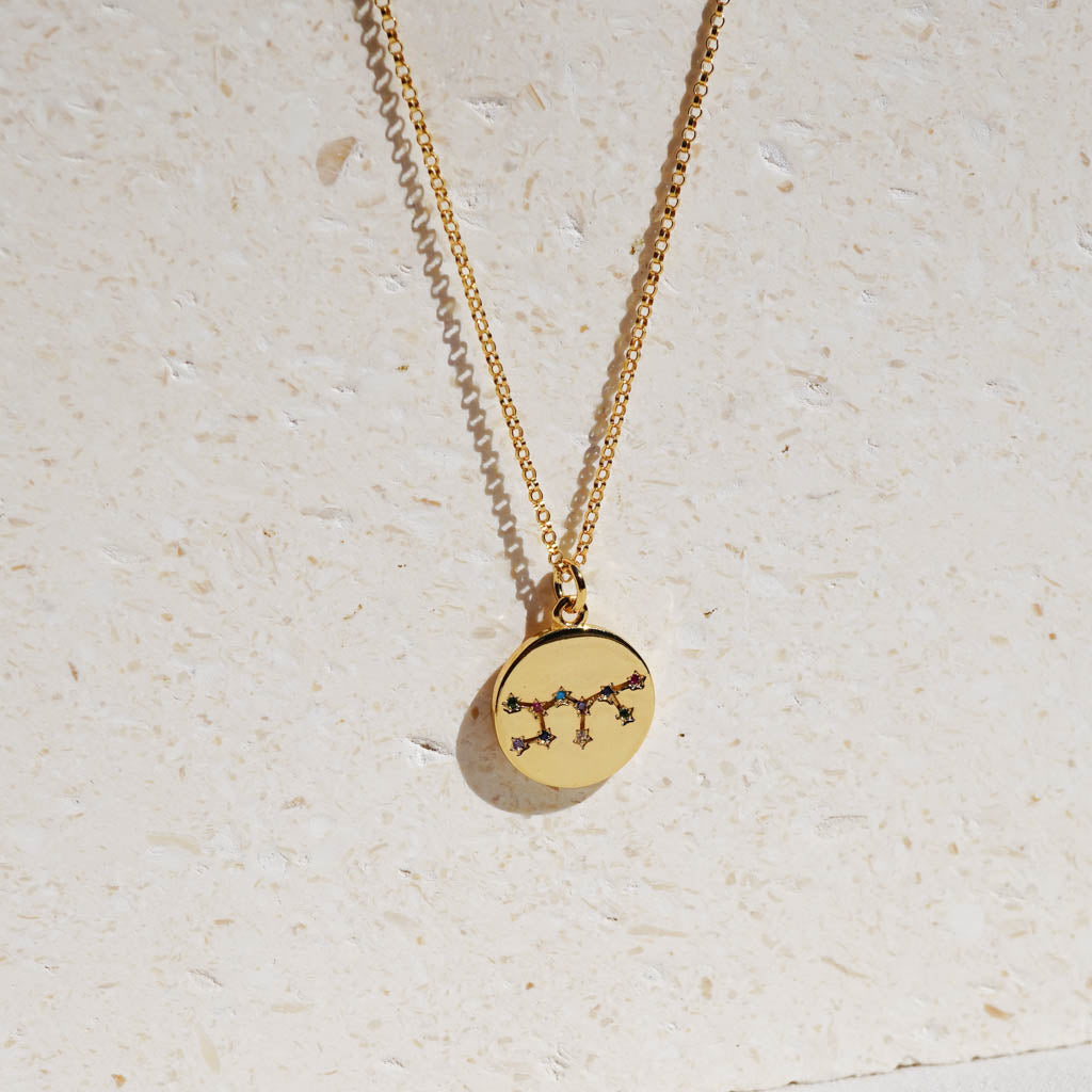 Gold filled Zodiac Constellation Necklace