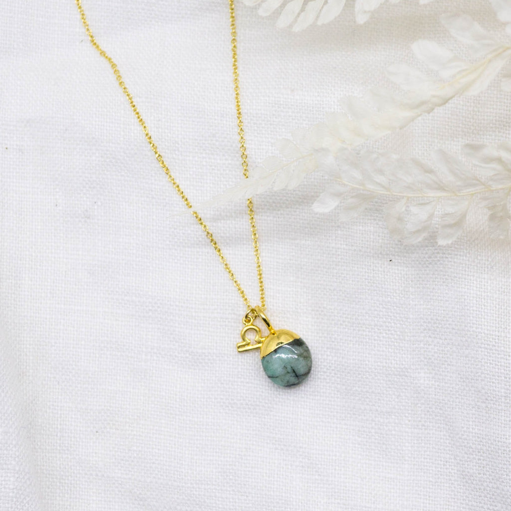 Emerald Libra Necklace