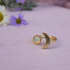 Opal 'Miami' Moon Ring