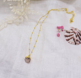 Rose Quartz 'Daisy Lover' Necklace