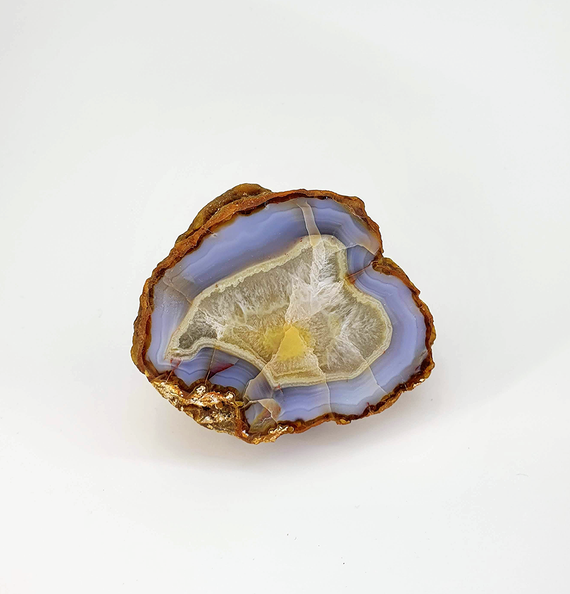 Geode with Clear Quartz and Blue Lace Agate