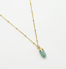 Amazonite Gold Necklace