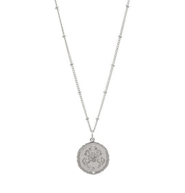 Cancer Silver Coin Necklace