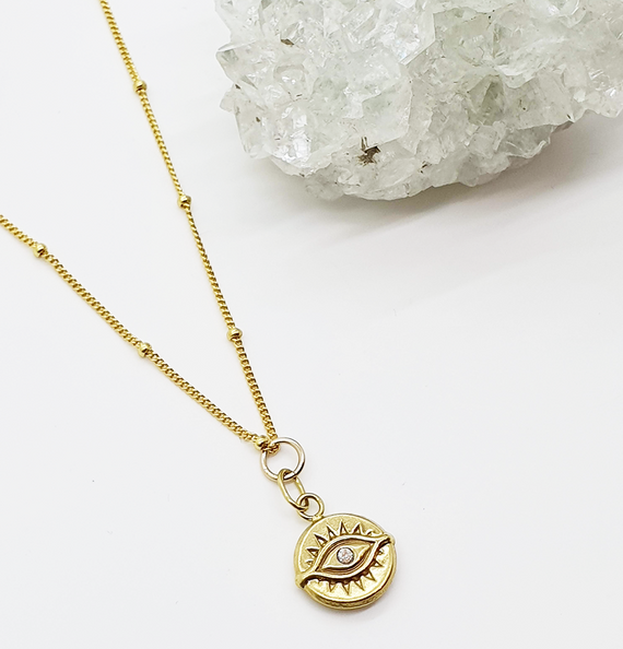 'Eye of the Sun' Necklace - Gold Vermeil