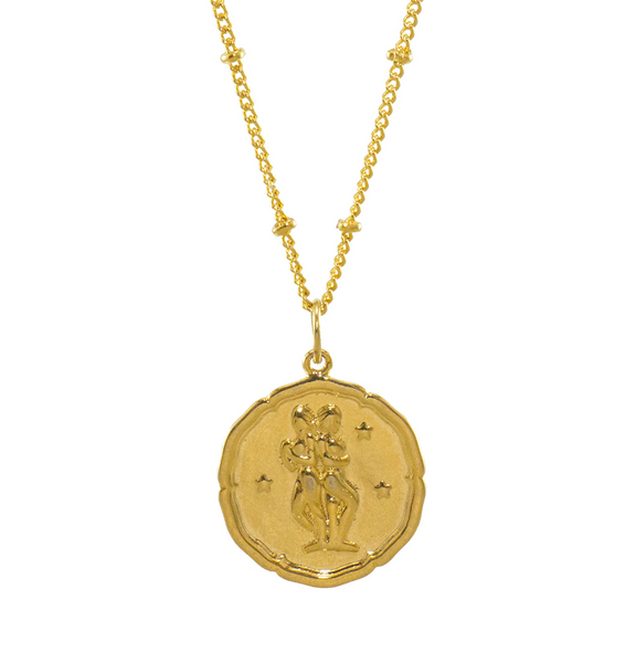 Gemini Gold Coin Necklace