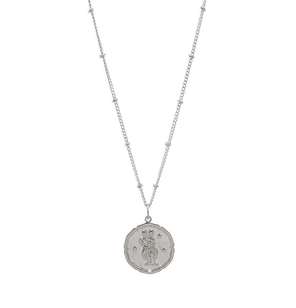 Gemini Silver Coin Necklace