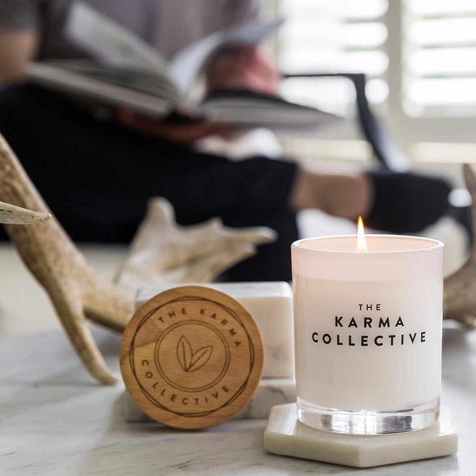 soy candle by karma collective