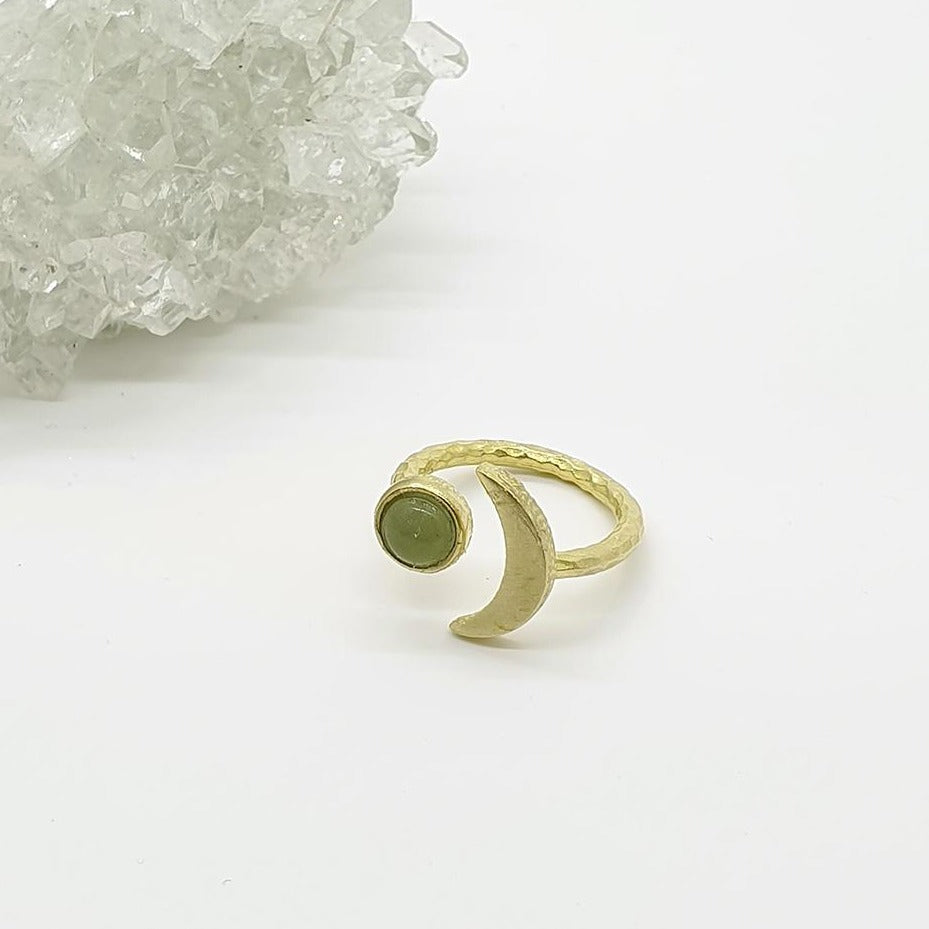 green aventurine gold ring