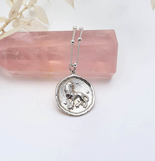Leo Coin - Sterling Silver Necklace