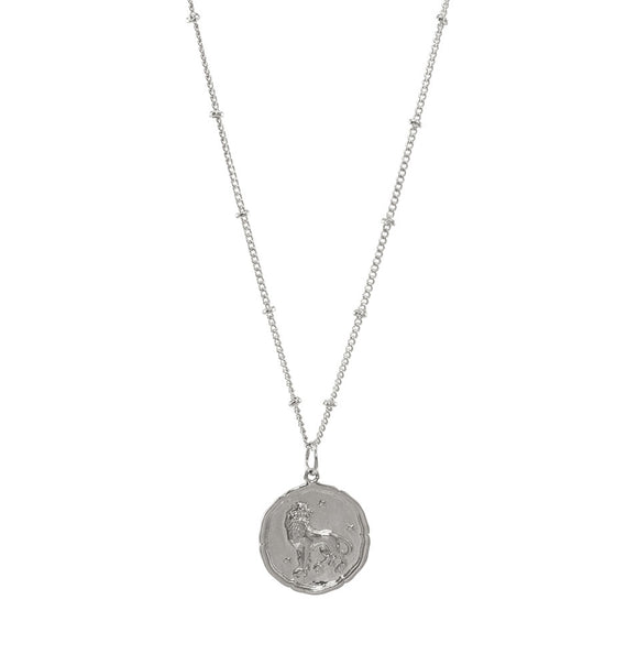 Leo Silver Coin Necklace