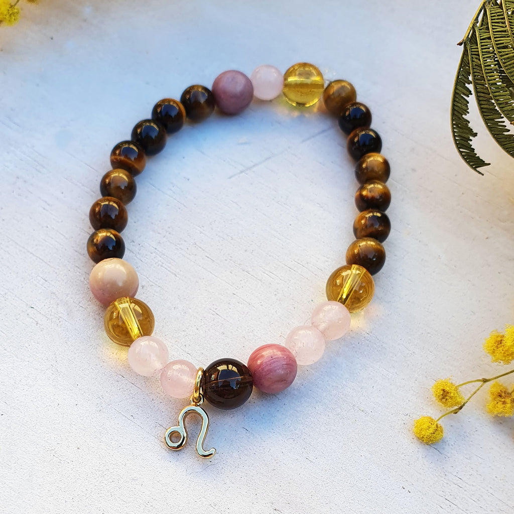 Leo Tigers Eye Birthstone Bracelet