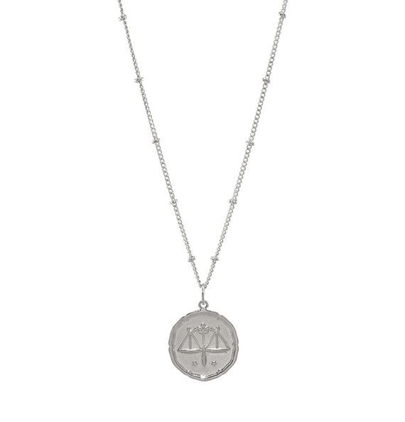 Libra Silver Coin Necklace
