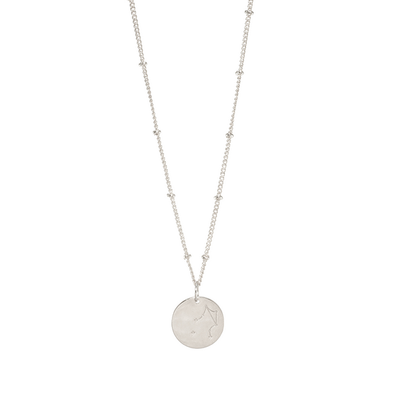Libra Silver Constellation Necklace