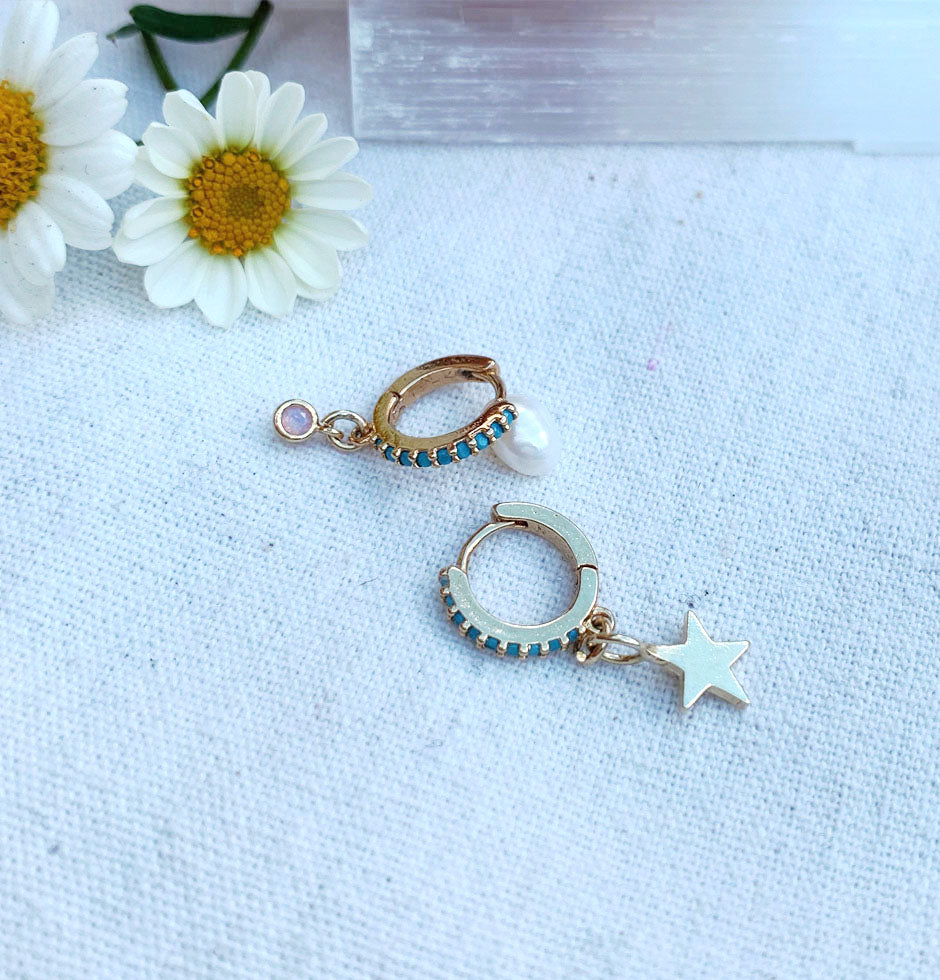 star and stone hoops