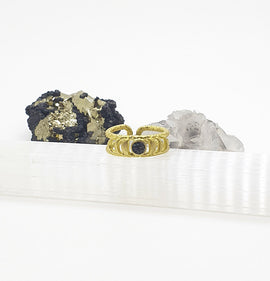 Moon Phases Gold Ring - Carborundum