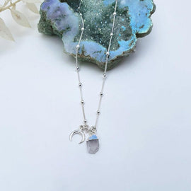 "Moonstone ""WhiteMoon"" - Sterling Silver Necklace"