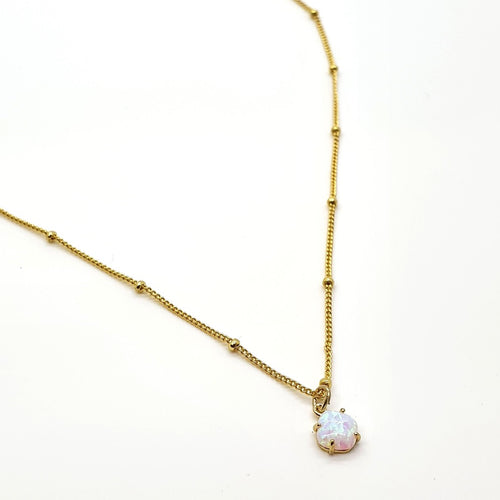 "Opal ""Vera"" Gold Necklace"