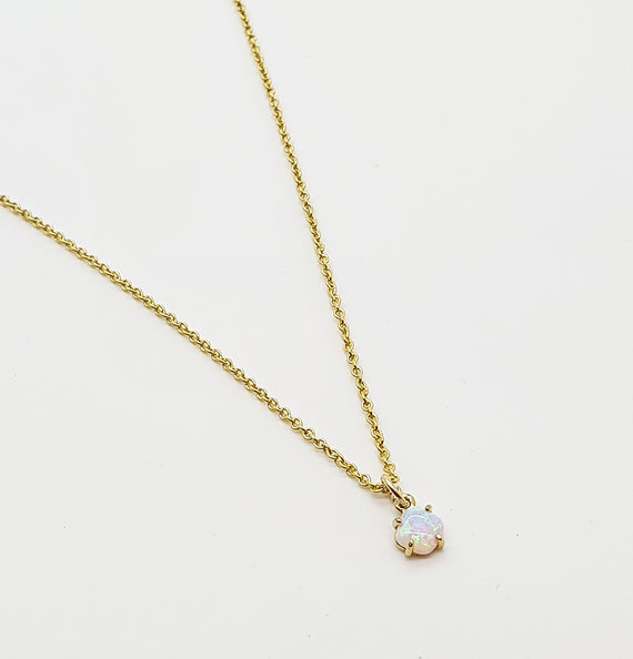 "Opal ""Sienna"" Mini Gold Necklace"