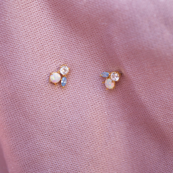 Opal 'Orchid Blue' Studs
