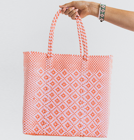 Mexi Tote Bag Medium - Pink Blush