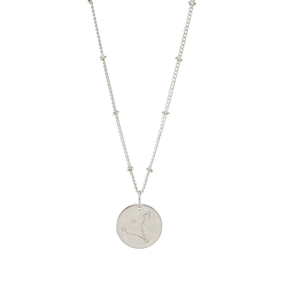 Pisces Silver Constellation Necklace