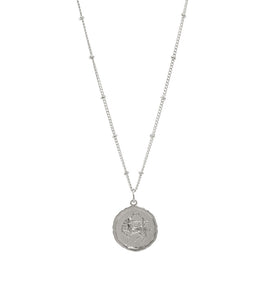 Sagittarius Silver Coin Necklace