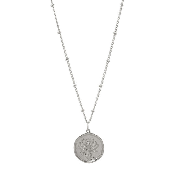 Scorpio Silver Coin Necklace