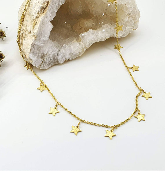 Star Charms Necklace - Gold