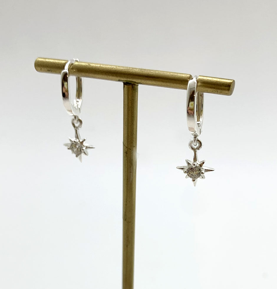 North Star Sterling Silver Hoops