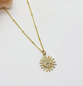Sun Charm Gold Vermeil Necklace