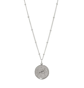 Taurus Silver Coin Necklace