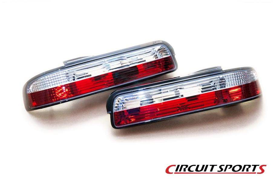 Circuit Sports Red Clear Rear Tail Lamp Lights for S13 240SX Coupe