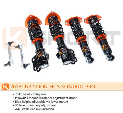Ksport Kontrol Pro's for Scion FR-S/Subaru BRZ