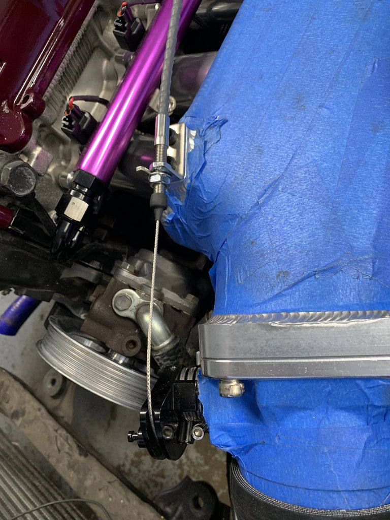 1jz 2jz Throttle Cable for Front Facing Intake Manifold