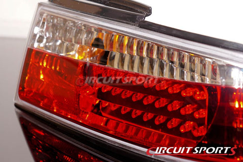 Circuit Sports Crystal Rear LED Tail Lamp Lights for S14 240SX Zenki