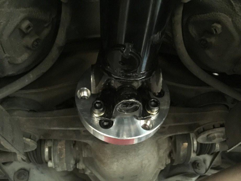 Suspicious Garage 3 in. Steel Driveshaft For Aristo Auto Trans to 4 Bolt Diff Flange