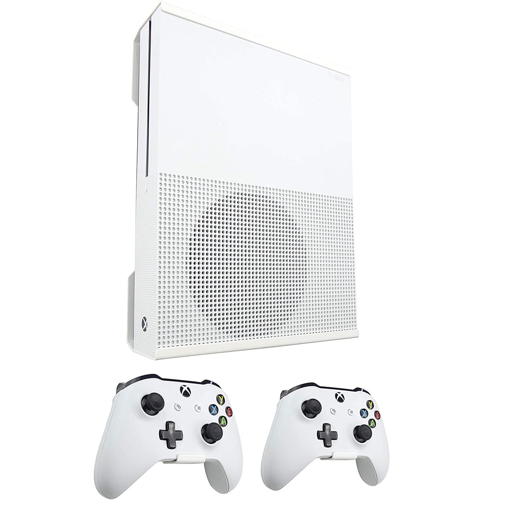 Xbox One S Wall Mount and Controller Brackets Bundle