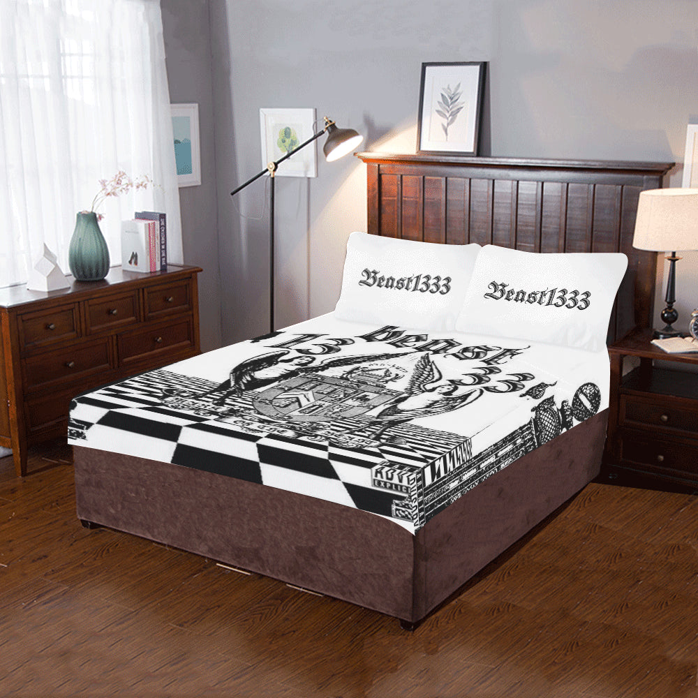 "ЯR ""Mark of the Beast"" 3-Piece Bedding Set"