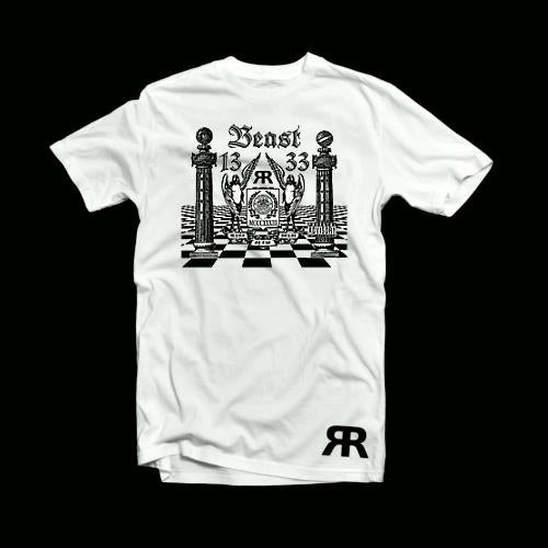 "ЯR ""Mark of the Beast"" White t-shirt"
