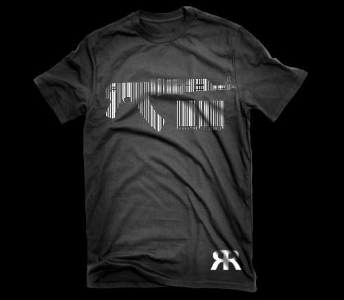 "ЯR ""AK BARCODE"" Black t-shirt"
