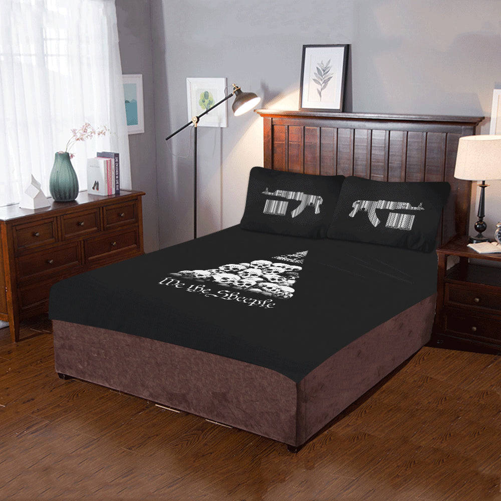 "ЯR ""We the Sheeple"" 3-Piece Bedding Set"