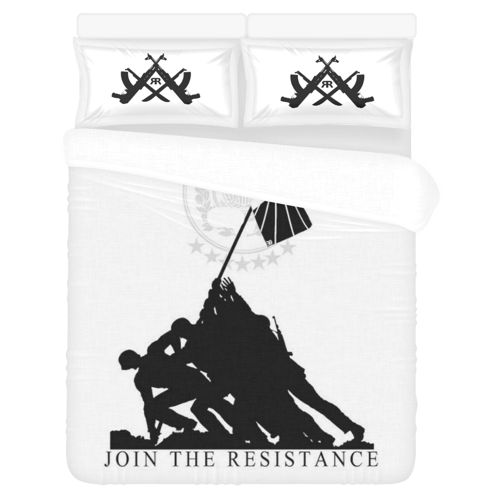 "ЯR ""Join the Resistance"" 3-Piece Bedding Set"