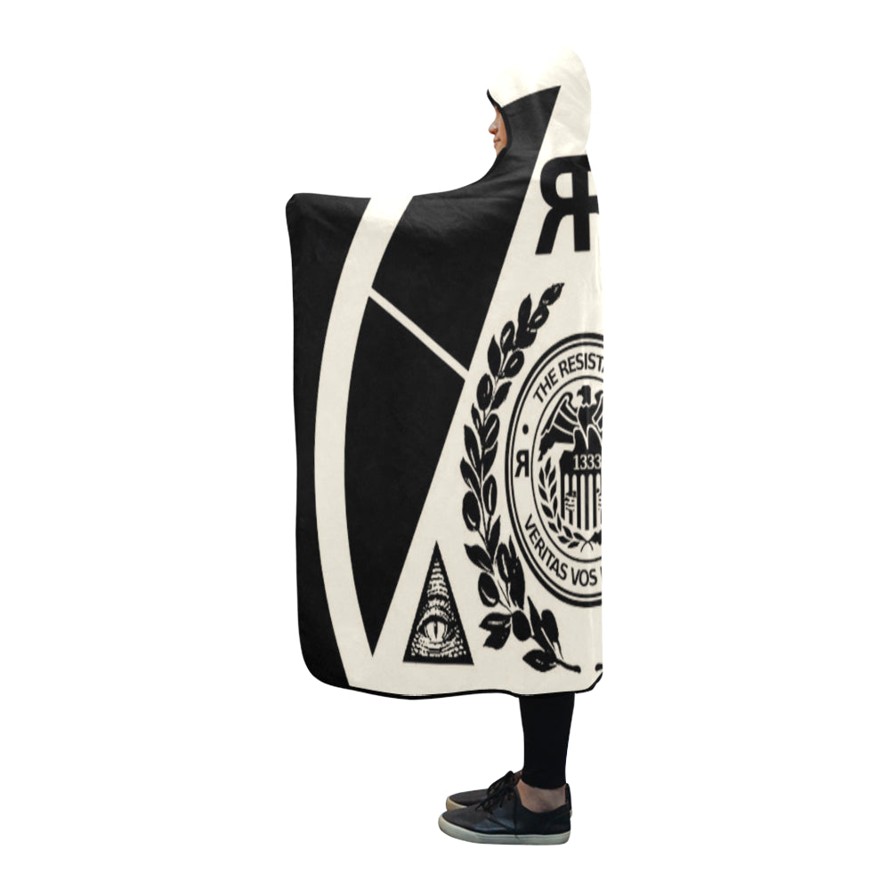 "ЯR ""Resistance"" Hooded Blanket 80''x56''"
