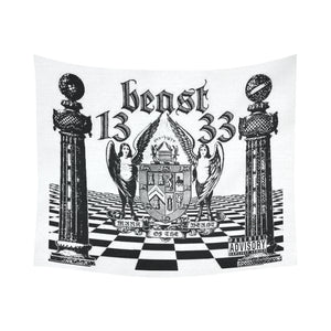 "ЯR ""Mark of the Beast"" Cotton Linen Wall Tapestry 60""x 51"""