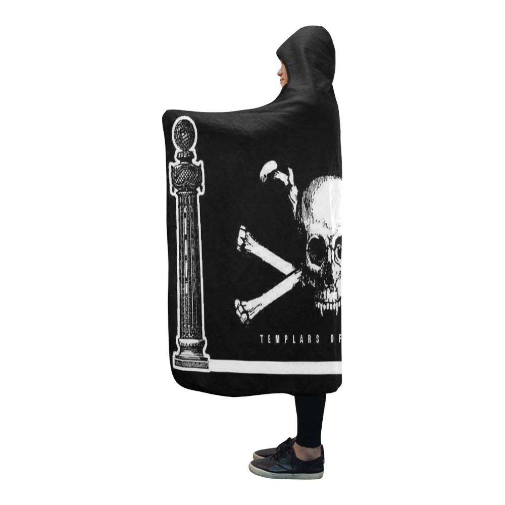 "ЯR ""Temple Smoke"" Hooded Blanket 80''x56''"